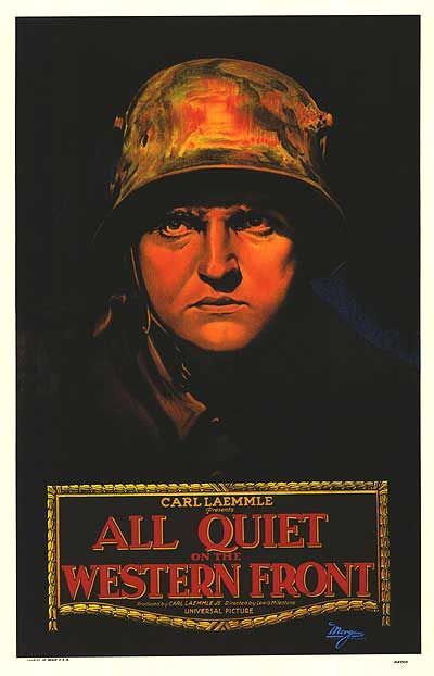 what did the movie all quiet So, my movie choice which was made in 1930 is considered one of the best films  ever made, even by critics today: all quiet on the western.