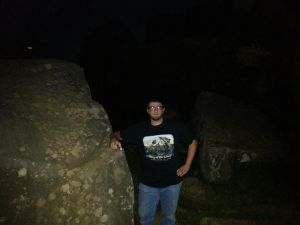 Ghost hunting at Devil's Den last night.