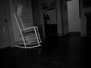 The rocking chair in the Lenape Indian Room.
