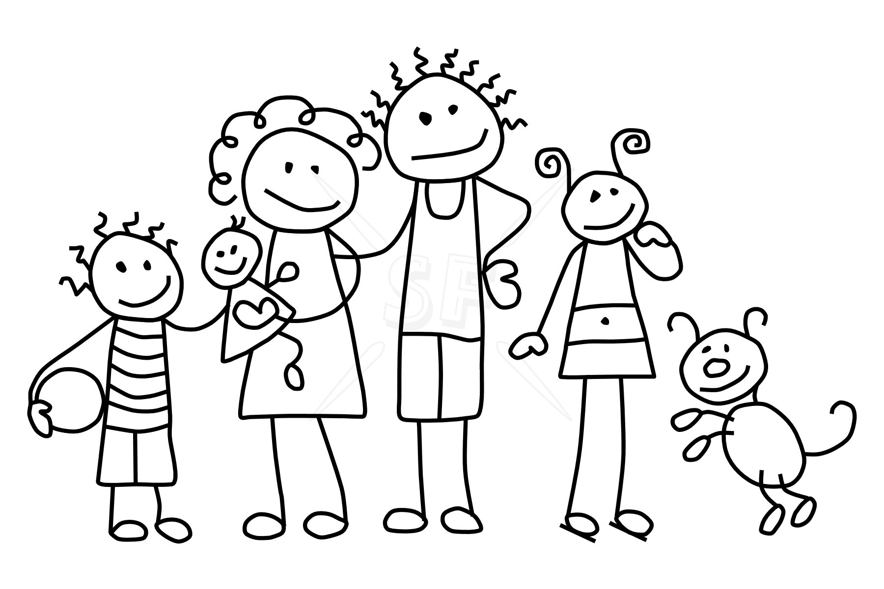 Stick Figure Families | From New York to San Francisco