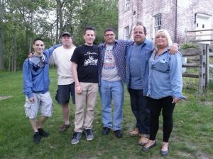 "The members of ""Haunted Travels"" present for the investigation. From left to right: Brett Bodner, Tom Burke, Jake Reid, Greg Caggiano, Doug Balduini, Carla Balduini."