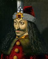 The only known portrait of Vlad Tepes. Hmmm, where are the fangs?