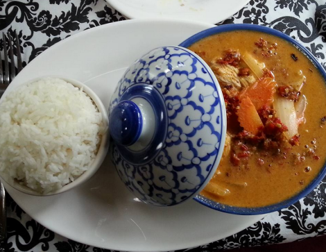 The Massaman curry chicken.