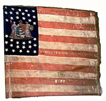 The flag of George's main Civil War interest, the 5th NJ Infantry.