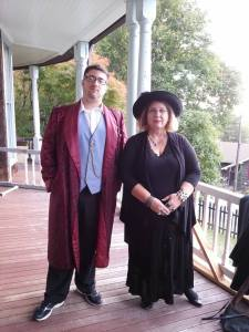 Me as Roderick Usher along with Joanne, a tour guide.
