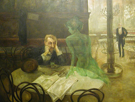 A famous absinthe painting.