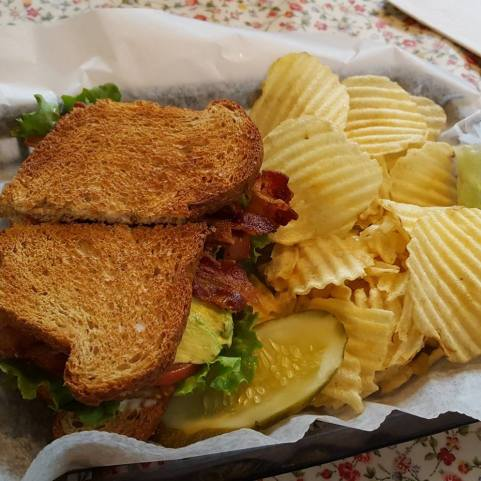 The BLAT: bacon, lettuce, avocado, tomato.