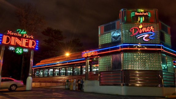 The outside of the Menlo Park Diner is beautiful and old=-fashioned, but it's all downhill from there. (Photo courtesy of NJ.Com
