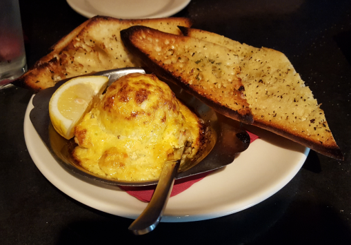 The brie and crab bake appetizer.