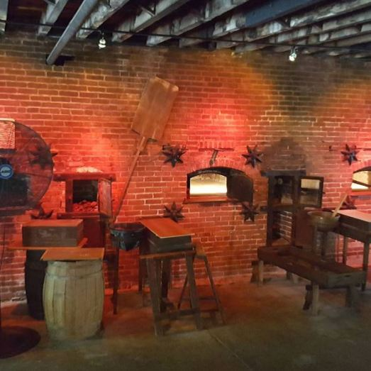 The original baking ovens of the Sturgis Pretzel Factory.