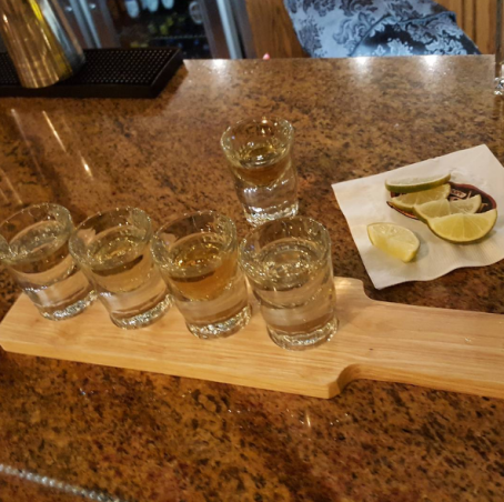 Will's tequila flight.