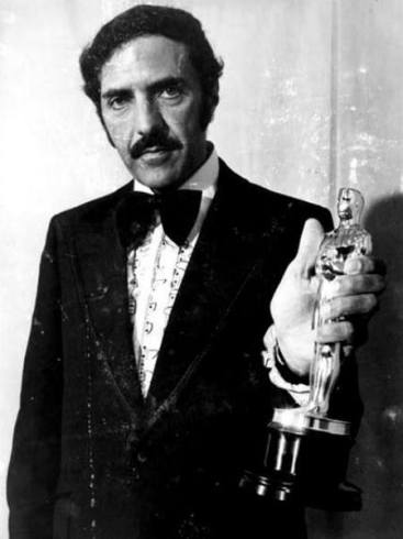 "Blatty with his Oscar in 1973 for best screenplay (""The Exorcist"")."